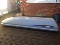 Lockable Thule Apline 700 Large Roof Box Roofbox and Thule Roof Bars for HIRE (for Estate car)