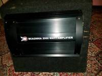 Vrx and bca 2000 watt amp and sub
