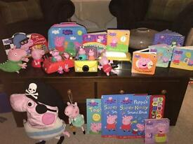 Peppa pig toys, books and bedroom bundle