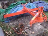 Landscape Rake tractor implement