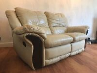 3 and 2 seater reclining sofas