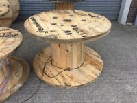 Large wooden cable drums 1200mm to 1800mm