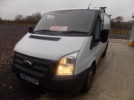 FORD TRANSIT 2.2TDCi,SWB LOW ROOF,2012,WHITE,NEW TYRES/MOT,FSH,HPI CLEAR,1 OWNER