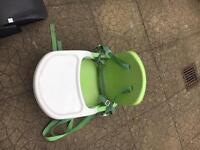 Mothercare snack/booster chair. Space saving high chair
