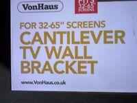 "Von Haus corner cantilever tv wall tilt bracket.....fits 32"" - 65"" screens.BRAND NEW"