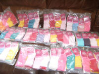 Pack of 12 Baby girls mixed colours socks size 6-8.5 (UK) or 23-26 (EUR) PLUS FREE DELIVERY.