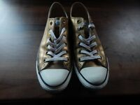Mens blck leather converse UK Size 8
