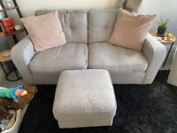 3 Seater Sofa, Cuddle Chair & Storage Footstool