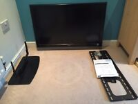 """Hitachi 37"""" HD TV with Stand and Wall mount"""