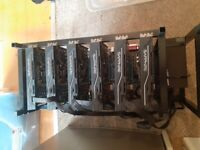 Mining rig Sapphire RX480 6xGpu. 3 available open frame rig
