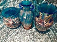 Art Glass Nouveau Monart Vase Collection RARE Authentic! Gold Flecks CHEAP SALE!