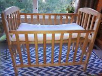 Newborn baby cot wooden