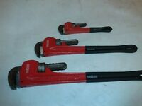 "3 pc stilson set 10"" 18"" 24"""