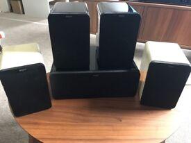 Tangent Evo, E24, Evo 4 surround sound speakers