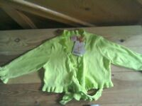 Laura ashley girls crossover ballet type cardigan age 2-3