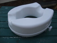 "Toilet seat raiser 4"" / 10cm (brand new and unused)"