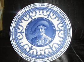 WEDGEWOOD Queen Mother Life Celebrfation Plate