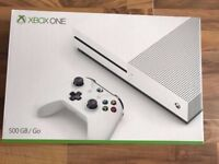 Xbox one s 500gb console with controller & 7 games (3 sealed) , as new , all boxed ! Price stands !