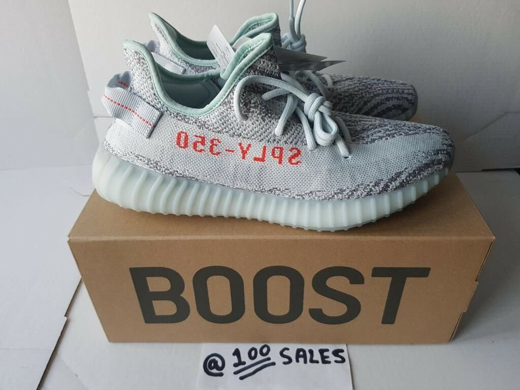 efe59234415 ADIDAS x Kanye West Yeezy Boost 350 V2 BLUE TINT UK10.5 US11 EU45 1/3  B37571 ADIDAS RECEIPT 100sales