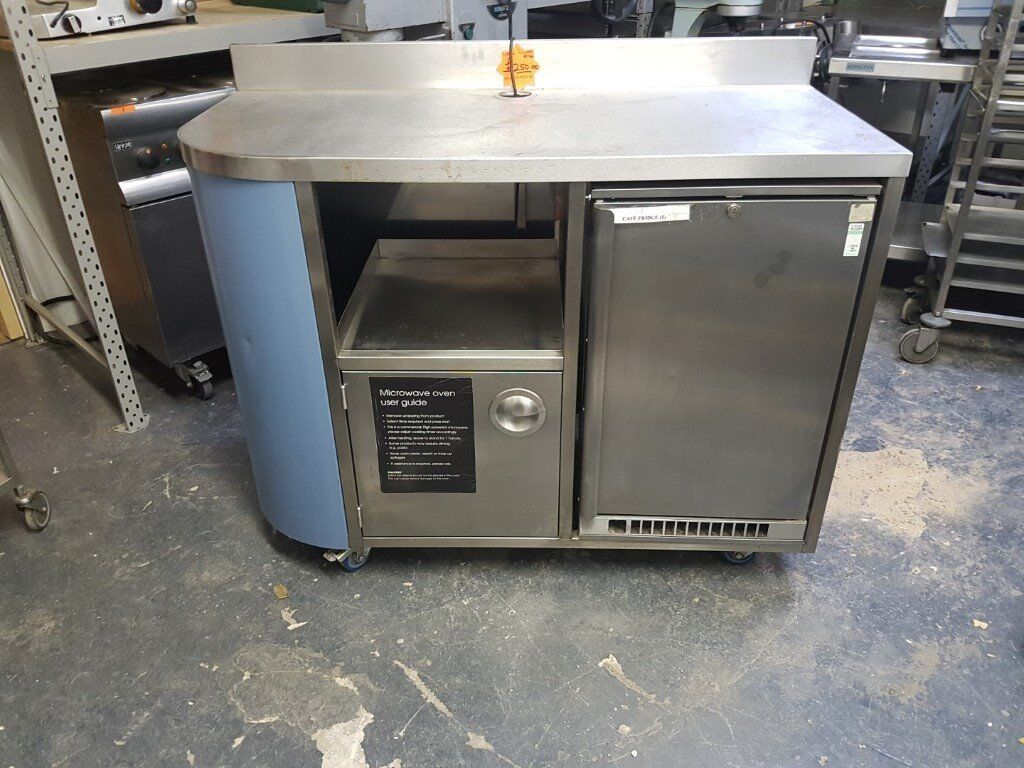 MOBILE COFFEE COUNTER WITH FRIDGE AND ELECTRICAL CONNECTIONS AST163