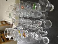 32 assorted glasses