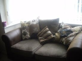 large corner suite and two seater settee