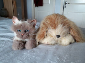Fur Real Scruffy Puppy and Fur Real Kitten