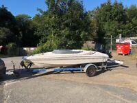 Bowrider Speedboat, Sea Ray 160 LTD W/ Trailer