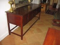lovely old solid teak dresser, nice glow and unusually long and low from south africa.