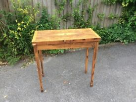 Cherry wood folding card table