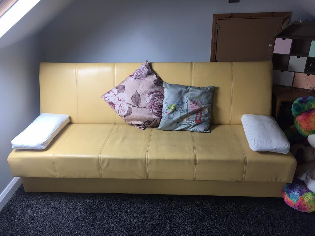 Leather sofa bedin Peterlee, County DurhamGumtree - Leather sofa bed with storage for sale due to house move.Will dismantle ready for collectionPeterlee area.Good conditionOpen to offers text 07399787156