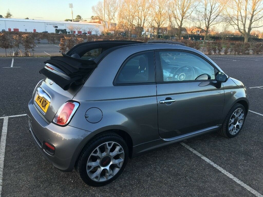fiat 500 cs convertible, grey, one lady owner from new, low milege