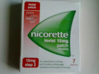 NICORETTE INVISI PATCHES 15mg -STEP 2- Two weeks supply (14 patches)