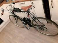 Autocycle bicycle. BSA motorized bicycle vintage motorcycle