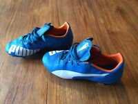 football boots 4 pairs of boys firm ground boots nike / adidas /puma good condition .