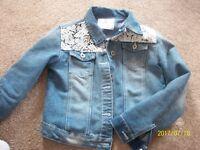 primark girls denim jacket age 11/12 as new