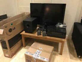 """42"""" LG LCD TV, Denon Amplifier and Tannoy Surround Sound Package with subwoofer"""