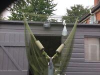 Large carp landing net, mint,