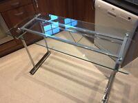 Glass Topped Chrome Frame Desk