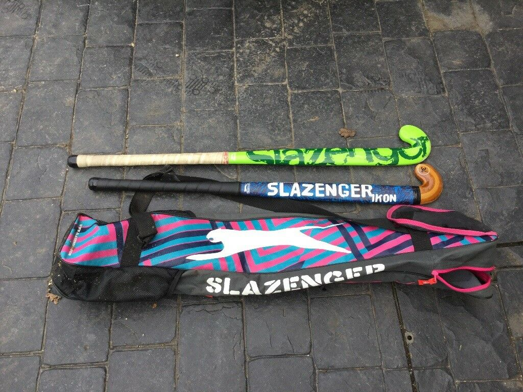 Hockey sticks with Slazenger bag
