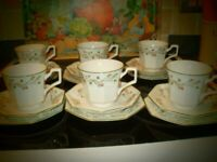 Eternal Beau - 6 x trios of cup saucer and plate