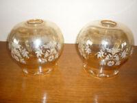 2 glass lamp shades
