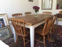 Reclaimed Plank Wooden Dining Table