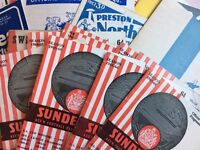 Job lot of 40 Sunderland football programmes from the 1960s (62-68). Home / Away.