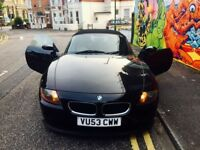 BMW Z4 SPORT CONVERTIBLE 2.5 BLACK / RED LEATHER