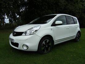 2012 Nissan note 1.5 dci N-tec + (89hp) very low miles