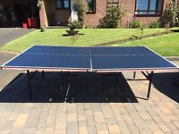 TABLE TENNIS TABLE, full size, folds up