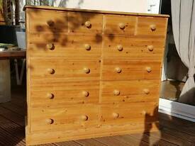 Big solid pine chest of drawers