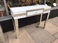 White & Mirrored Dressing Table / Console Table