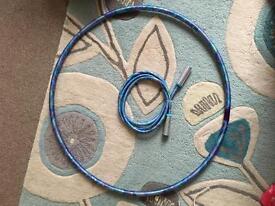 Skipping rope and hula hoop set